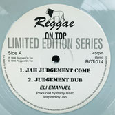 "ELI EMANUEL  Jah Judgement Come  Label: Reggae On Top (12"")"