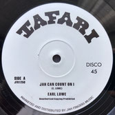 "EARL LOWE  Jah Can Count On I (12"") Tafari"