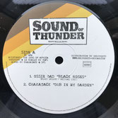 "OSSIE GAD  Black Roses / Drifter  Label: Sound of Thunder (12"")"