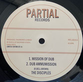 "DISCIPLES  Mission of Dub / Dub pt 3  Label: Partial (10"")"
