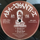 "BLOOD SHANTI  World Cry / Rainbow City (Aba Shanti-I 12"")"