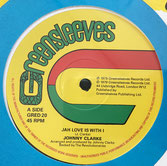 "JOHNNY CLARKE  Jah Love Is With I / Bad Days Are Going  Label: Greensleeves (12"")"
