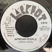 "JOHNNY CLARKE, KING TUBBY  African People / Dub  Label: Jackpot (7"")"