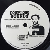 "DOUGIE meets BORIS, INDICA DUBS Coming From The Lord / The Vision (Conscious Sounds Indica Dubs 12"")"