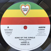 "PRINCE LIVIJAH  King Of The Jungle (12"")"