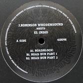 """EL INDIO  Roadblock! / Dub  Label: WhoDemSound (12"""")"""