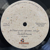 """JEDUTHUM  When You Gonna Stop / Dub  Label: Roots Recycler (7"""")"""