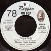 "HUGHIE IZACHAAR Vision Rock (7"") Reggae On Top"