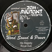 "WORD SOUND & POWER, KING PHARAOH  His Majesty / King David (Jah Militant 12"")"