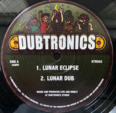 """DUBTRONICS  Lunar Eclipse / Solar Vortex  Label: Dubtronics (10"""")"""