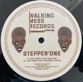 "STEPPER'ONE ft GURU POPE, ROOTIKAL 45  Lost Temple / Dubwise  Label: Walking Mess (12"")"