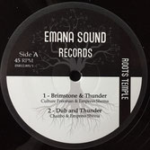 "CULTURE FREEMAN, CHAZBO, EMPRESS SHEMA / IST3P Brimstone & Thunder / Millenium (12"") Emana Sound Records"