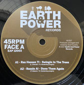 "RAS HASSEN TI, DUB FOUNDRY  Swinging In The Trees / Dub Them Again  Label: Earth & Power (12"")"