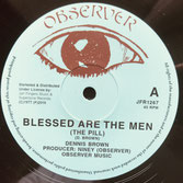 "DENNIS BROWN, JUNIOR DELGADO  Blessed Are The Men / Cry, Cry  Label: Observer/JFR (12"")"