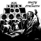 "DUB JUDAH, ROOTSMAN SAX  Unity Is Strength / Sax Cut  Label: 4Weed  (12"")"