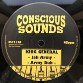"""KING GENERAL  Jah Army / Tell Them Again  Label: Conscious Sounds (12"""")"""