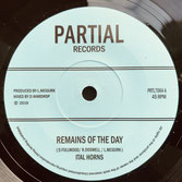 "ITAL HORNS  Remains Of The Day (7"")"