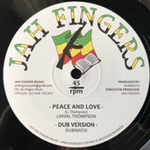 "LINVAL THOMPSON, HORACE ANDY Peace and Love / It's a Clash (Jah Fingers 12"")"