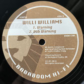 "WILLI WILLIAMS  Warning (12"")"