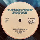 "LINVAL THOMPSON  Jah Jah Guiding Star / Cool Down your Temper  Label: Thompson (12"")"