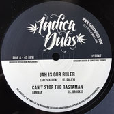 "EARL SIXTEEN, DANMAN Jah Is Our Ruler / Can't Stop The Rastaman (10"")  Indica Dubs"