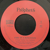 """YABBY YOU  Fire In A Kingston / Dub  Label: Prophets (7"""")"""