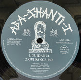 "THE SHANTI-ITES  Guidance / Menelik  Label: Aba Shanti-I (12"")"