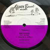 "EMETERIANS ft SARITAH, KEVIN DAVID  Respect / One In A Zillion / Dub Mix  Label: River Bank (10"")"