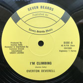"OVERTON DEVERELL  I'm Climbing / Gold Mine  Label: Seven Beards (12"")"