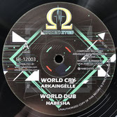 "ARKAINGELLE, AFRIKAN SIMBA  World Cry / Praise Him (Habeshites 12"")"