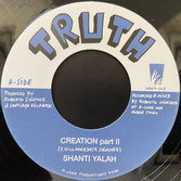 "SHANTI YALAH, WINSTON BLENDAH  Creation / Wash & Clean  Label: Truth/Ark (7"")"