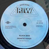 "GRANTIE ASHER, MAD PROFESSOR  Black Skin / Emancipation Dub  Label: Ariwa (12"")"