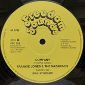"JAH FRANKIE JONES, PHILLIP FRAZER  Company / Mr Wicked Man  Label: Freedom Sounds (12"")"
