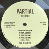 "THE DISCIPLES  Chant Of Freedom / Armageddon (Partial 12"")"