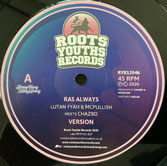 """LUTON FYAH meets CHAZBO  Ras Always / Version  Label: Roots Youths (12"""")"""