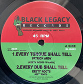 """PATRICK ANDY, MIKE BROOKS  Every Tongue Shall Tell / Vibration  Label: Black Legacy (10"""")"""