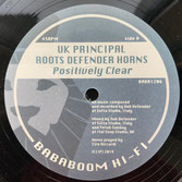 "UK PRINCIPAL  Positively Clear  Label: Bababoom Hi-Fi (12"")"
