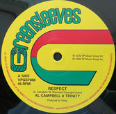 "AL CAMPBELL, TRINITY  Respect / Vampire  Label: Greensleeves (12"")"