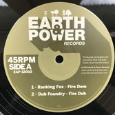 "RANKING FOX, FAR EAST  Fire Dem  Label: Earth & Power (12"")"