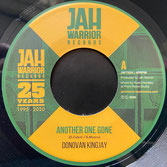 """DONOVAN KINGJAY  Another One Gone / Dub  Label: Jah Warrior (7"""")"""