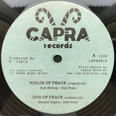 "DUB STRING, JOBBA  Violin Of Peace / Everyday   Label: Capra (10"")"