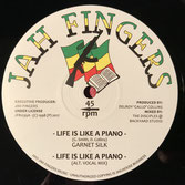 "GARNETT SILK  Life Is Like A Piano (Jah Fingers 12"")"
