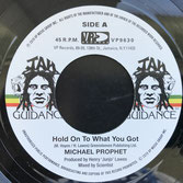 "MICHAEL PROPHET  Hold On To What You Got (7"")"