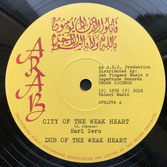 "EARL ZERO  City Of The Weak Heart / Please Officer (12"")"
