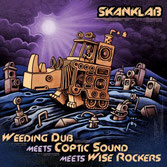 "WEEDING DUB meets COPTIC SOUND,  WISE ROCKERS  Dub Is The Teacher / Natural Born Dubber  Label: Skank Lab (12"")"
