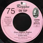 "BARRY ISSAC Zion Highest Region (7"") Reggae On Top"