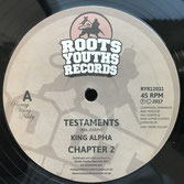 """KING ALPHA Testaments / Mass Extinction (Roots Youths 12"""")"""