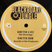 "THE VICEROYS, NISH WADADA  Ghetto Life / Tafari (Blackboard Jungle 12"")"