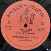 "DAWIT MENELIK TAFARI, H. IZACHAAR  Ghetto Life / Peace and Love / Version  Label: Melody Muzik (12"")"