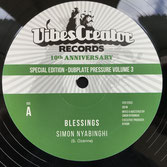 "SIMON NYABINGHI  Blessings / Clean Up  Label: Vibescreator (12"")"